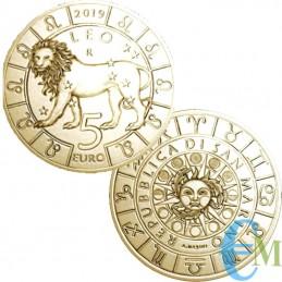 San Marino 2019-5 Euro Zodiac Leo