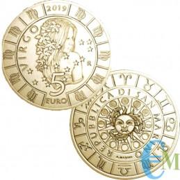 Saint-Marin 2019 - 5 Euros Vierge Zodiaque
