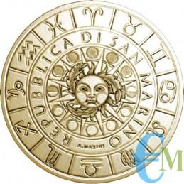 San Marino 2020 - 5 Euro Zodiaco Bilancia rovescio