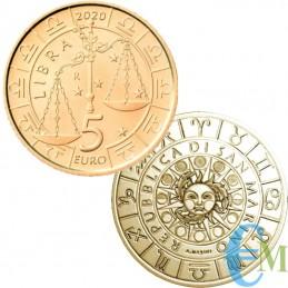San Marino 2020-5 Euro Zodiaco Libra