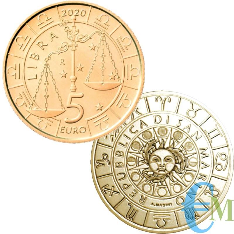 San Marino 2020 - 5 Euro Zodiaco Bilancia