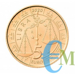 San Marino 2020 - 5 Euro Zodiaco Bilancia dritto