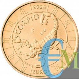 San Marino 2020 - 5 Euro Zodiaco Scorpione dritto