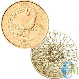 San Marino 2020 - 5 Euro Zodiaco Scorpione