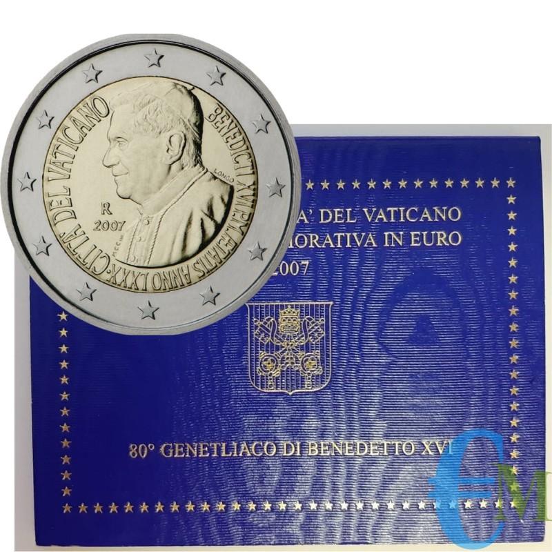 Vaticano 2007 - 2 euro 80° Compleanno Benedetto XVI