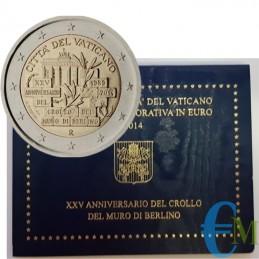 Vaticano 2014 - 2 euro 25° caduta del Muro di Berlino