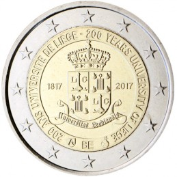 Belgio 2017 - 2 euro commemorativo 200° anniversario dell'Università di Liegi.