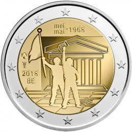 Belgio 2018 - 2 euro commemorativo 50° anniversario della rivolta studentesca.
