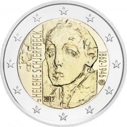 Finlandia 2012 - 2 euro commemorativo 150° anniversario della nascita di Helene Schjerfbeck (1862 - 1946), pittrice finlandese.