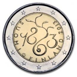 Finlandia 2013 - 2 euro commemorativo 150° anniversario dei lavori del Parlamento finlandese.