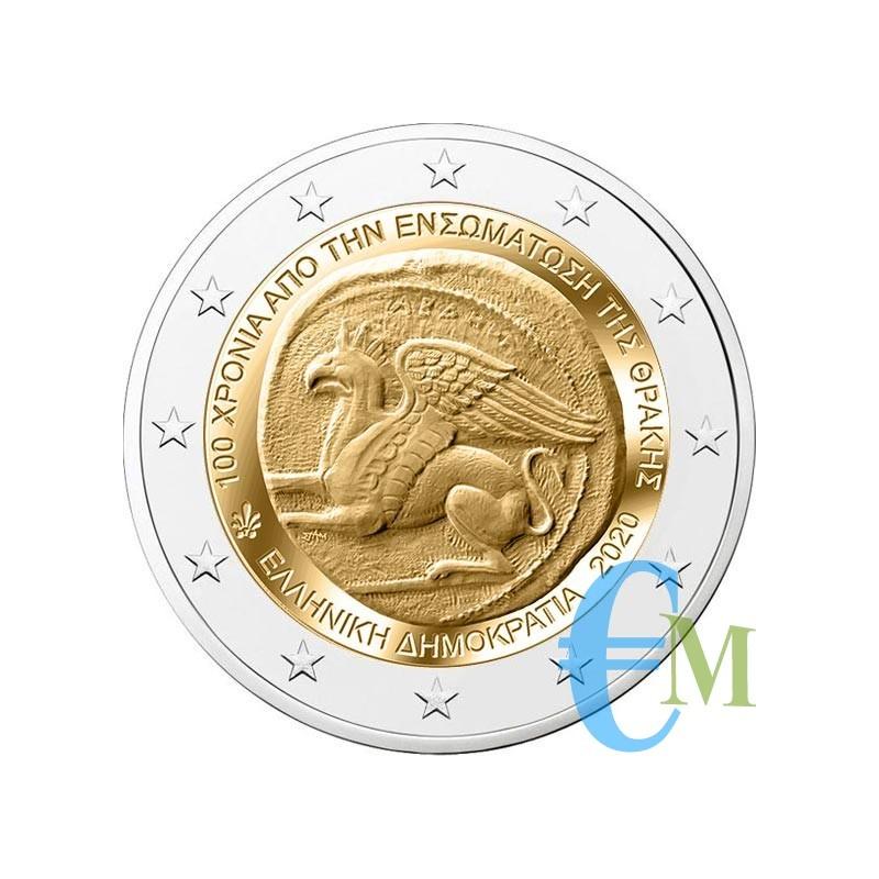 Grecia 2020 - 2 euro commemorativo 100° anniversario dell'annessione della Tracia alla Grecia