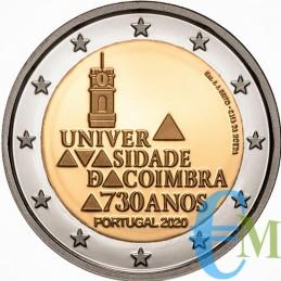 Portogallo 2020 - 2 euro 730º dell'Università di Coimbra BU in Coincard moneta