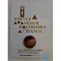 Portogallo 2020 - 2 euro 730º dell'Università di Coimbra BU in Coincard