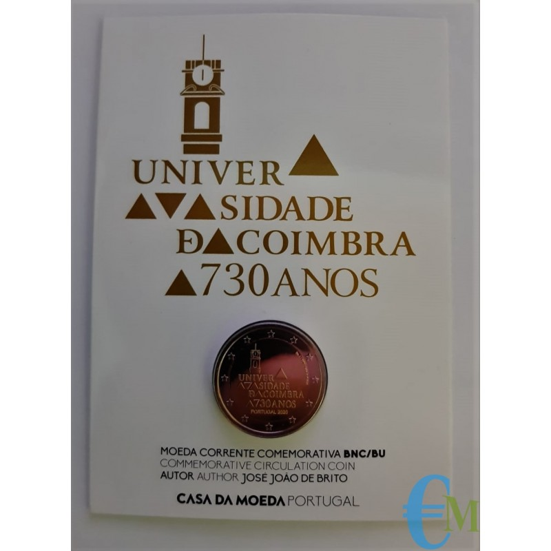 Portogallo 2020 - 2 euro 730º dell'Università di Coimbra BU in Coincard