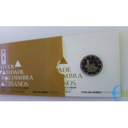 Portogallo 2020 - 2 euro Proof 730º dell'Università di Coimbra
