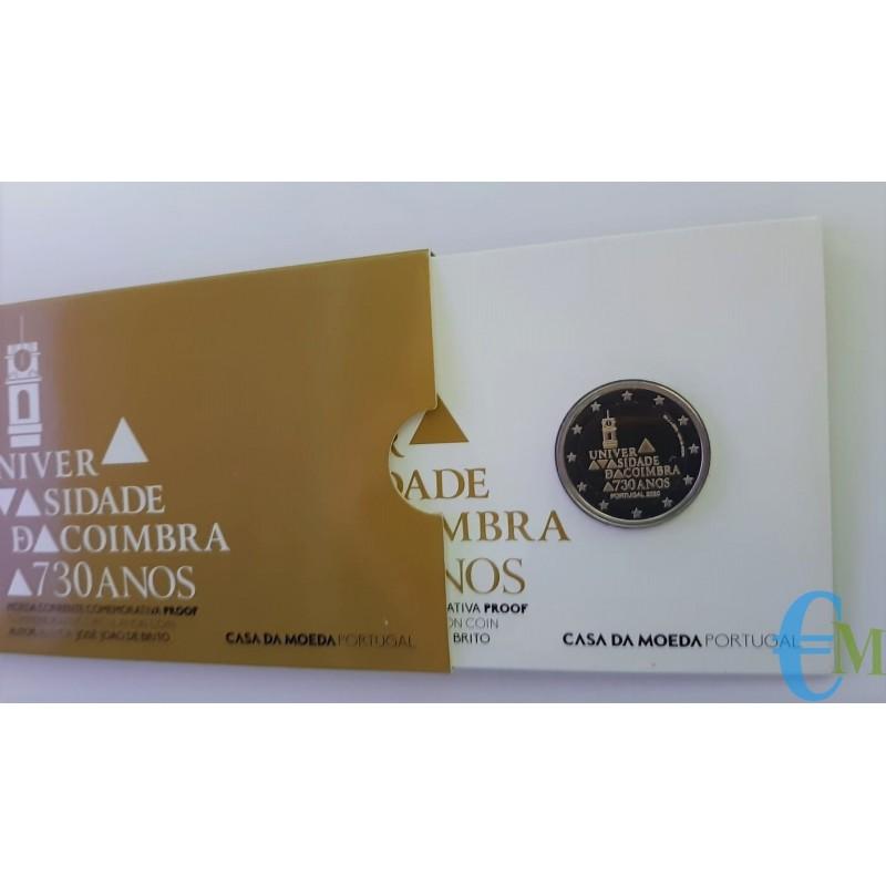 Portogallo 2020 - 2 euro Proof 730º dell'Università di Coimbra