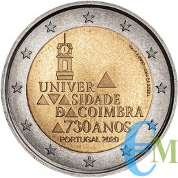 Portogallo 2020 - 2 euro 730º dell'Università di Coimbra