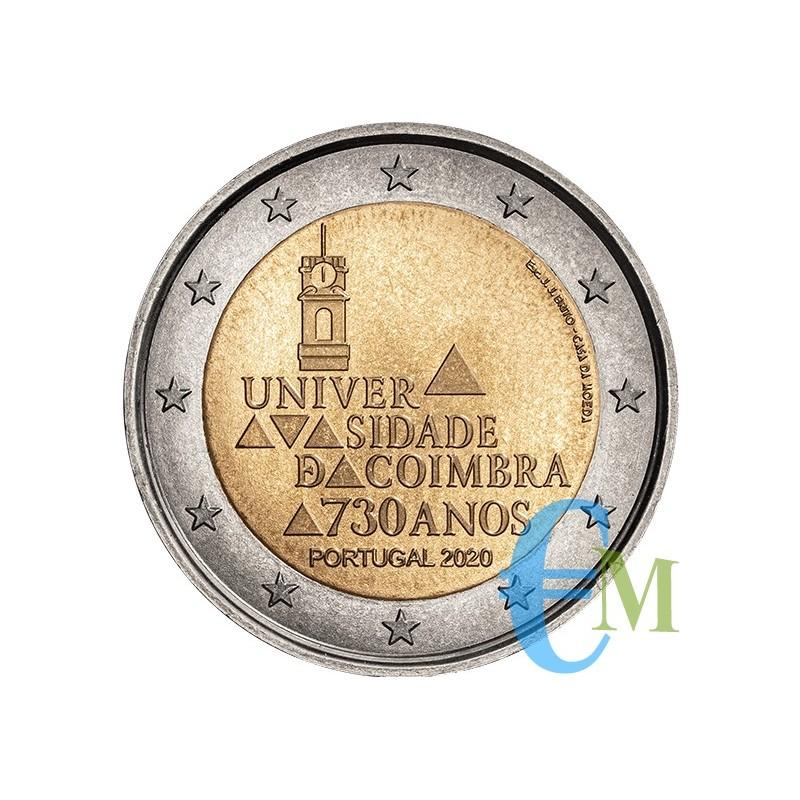Portogallo 2020 - 2 euro 730º dell'Università di Coimbra