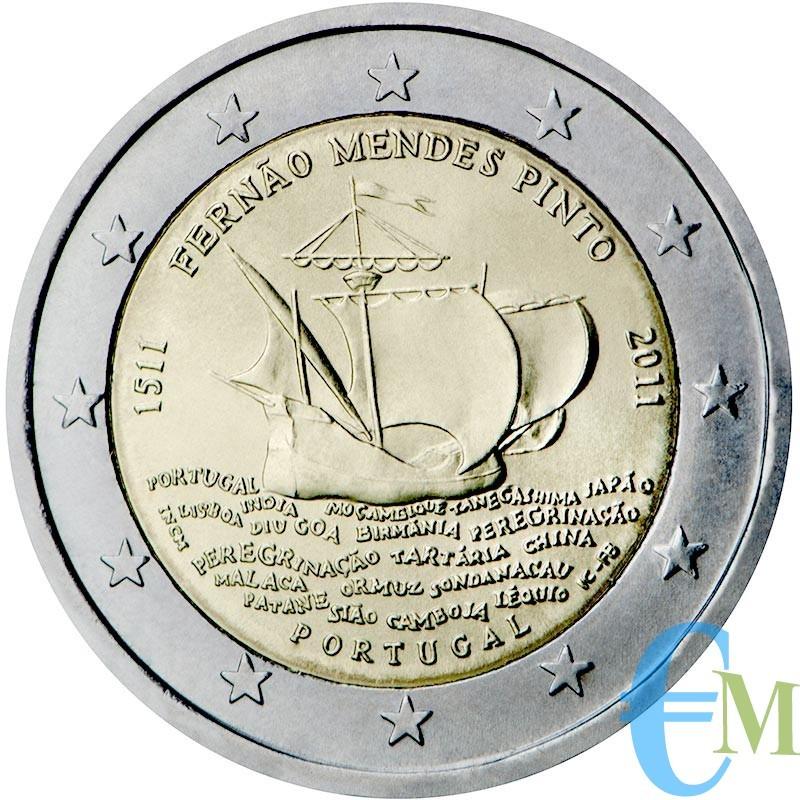 Portogallo 2011 - 2 euro commemorativo 500° anniversario della nascita di Fernao Mendes Pinto