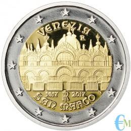Italia 2017 - 2 euro Proof 400° completamento Venezia Basilica San Marco moneta
