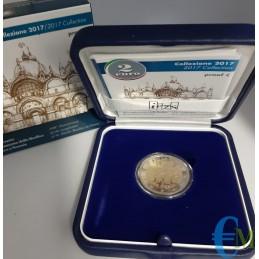 Italia 2017 - 2 euro Proof 400° completamento Venezia Basilica San Marco con cofanetto