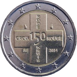 Belgio 2014 - 2 euro commemorativo 150° anniversario della Croce Rossa Belga moneta