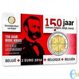 Belgio 2014 - 2 euro commemorativo 150° anniversario della Croce Rossa Belga. Olandese