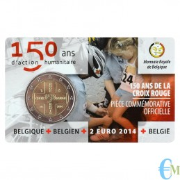 Belgio 2014 - 2 euro commemorativo 150° anniversario della Croce Rossa Belga. Francese