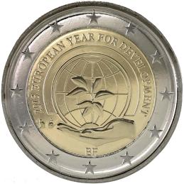 Belgio 2015 - 2 euro commemorativo anno europeo per lo sviluppo moneta