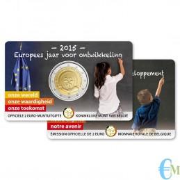 Belgio 2015 - 2 euro commemorativo anno europeo per lo sviluppo Olandese