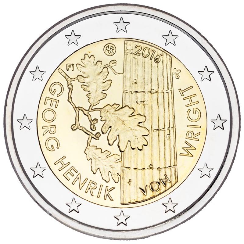 Finlandia 2016 - 2 euro commemorativo 100° anniversario della nascita di Georg Henrik von Wright