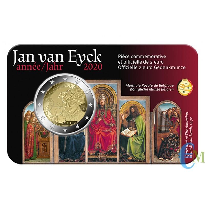 Belgio 2020 - 2 euro 630° nascita Jan van Eyck BU in coincard Francese
