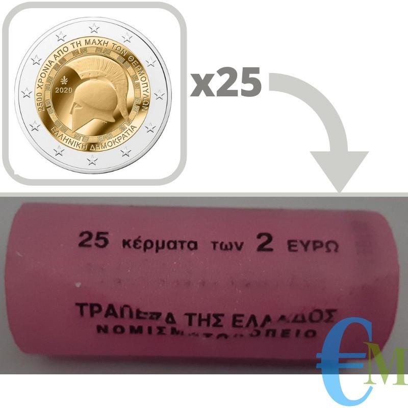 Greece 2020 - Roll of 2 euro Battle of Thermopylae