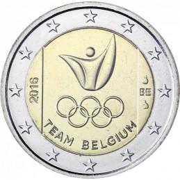 Belgio 2016 - 2 euro Giochi Rio BU in coincard Casuale