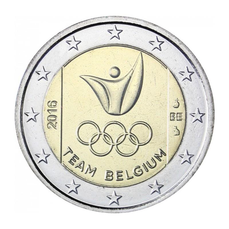 Belgio 2016 - 2 euro commemorativo squadra belga che parteciperà ai Giochi olimpici di Rio 2016