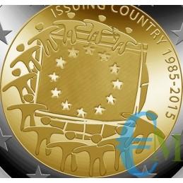 2015 - Lotto annata 2 euro 30° Bandiera