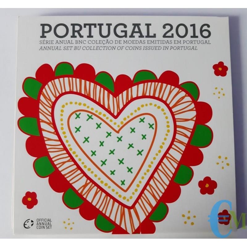 Portogallo 2016 - Divisionale Euro Ufficiale - BU 8 valori
