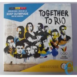 Belgio 2016 - Divisionale Euro Ufficiale - 9 valori Giochi Olimpici di Rio