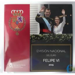 Spagna 2015 - Divisionale Euro Ufficiale - 9 valori
