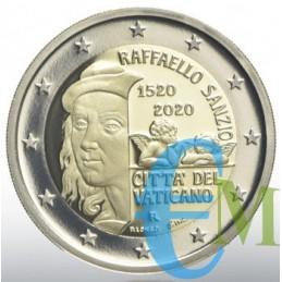 Vaticano 2020 - 2 euro Proof 500° morte Raffaello Sanzio moneta