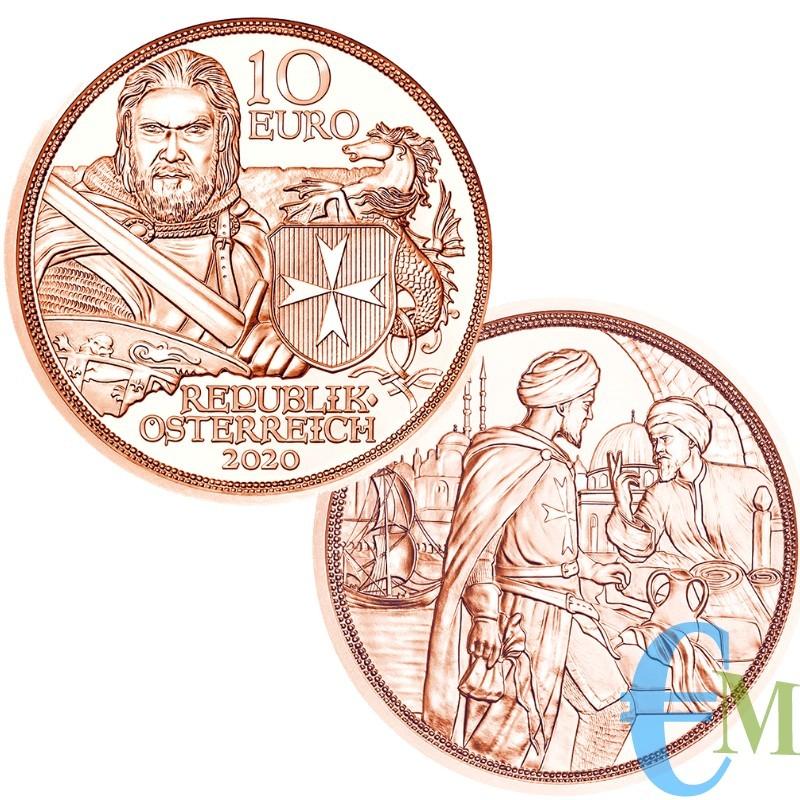 Austria 2020 - 10 euro Cavalieri Templari ''Fortezza'' moneta