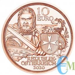Austria 2020 - 10 euro Cavalieri Templari ''Fortezza''