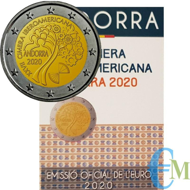 Andorra 2020 - 2 euro 27° Vertice Iberoamericano