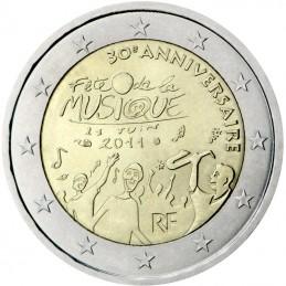 Francia 2011 - 2 euro commemorativo 30° anniversario della festa della musica.