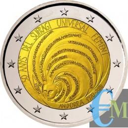 2 euro 50° Suffraggio Universale Femminile moneta