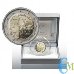 2 euro Proof 500° morte Raffaello Sanzio