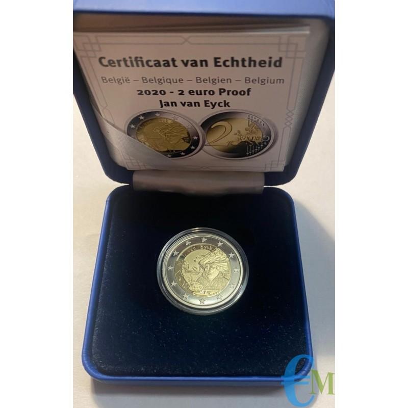 Belgio 2020 - 2 euro Proof 630° nascita Jan van Eyck
