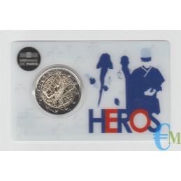 Francia 2020 - 2 euro Ricerca Medica BU in coincard HEROS