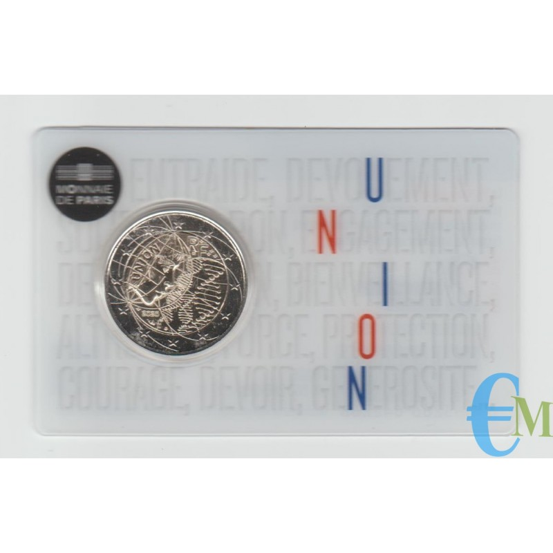 Francia 2020 - 2 euro Ricerca Medica BU in coincard UNION