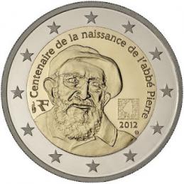 France 2012 - 2 euros 100ème naissance de l'Abbé Pierre